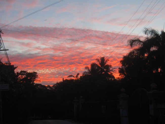 Yangon winter sunrise