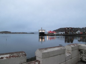 Leaving Oban as the dawn breaks, over quieter waters than the eve