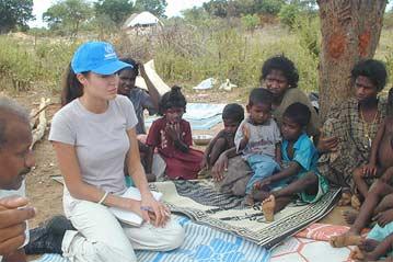UN Ambassador Angelina Jolie's visit to Jaffna 2003