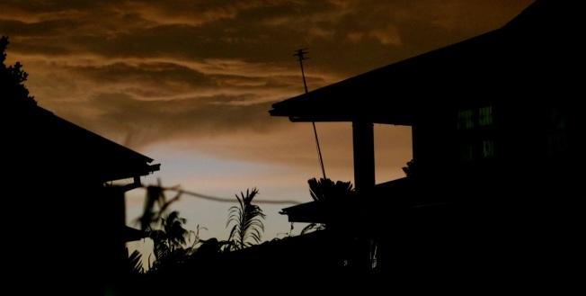 The Yangon sky as the seasons change