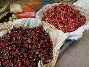Spicy yummy varieties of dried chillies