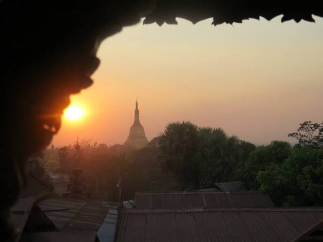Looking over to Shwe Maw Daw as the light fades