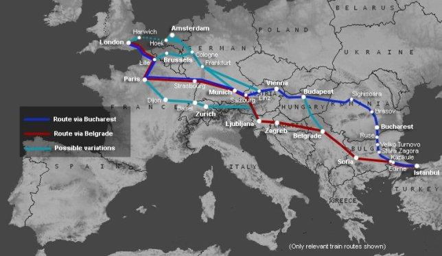 Orient ExpressTurkey-map